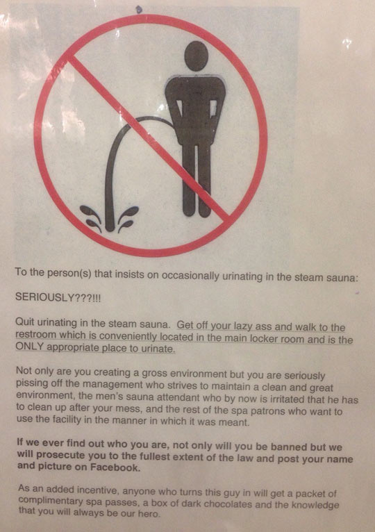 funny-note-prohibition-urinating-steam-sauna