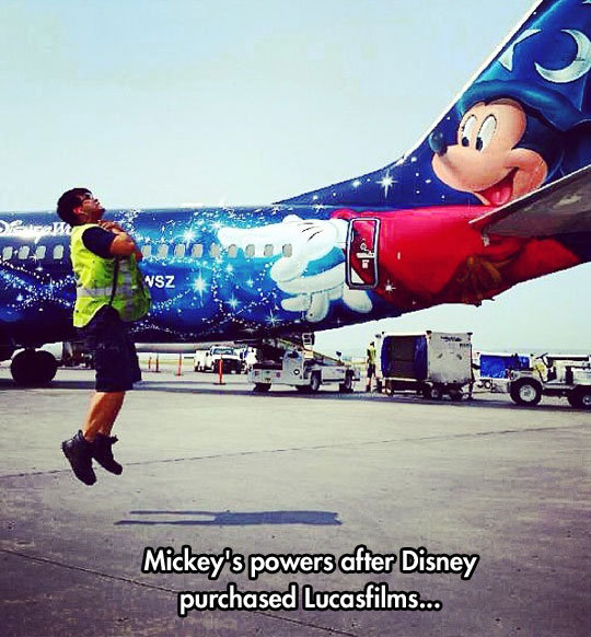 Mickey Joined The Dark Side
