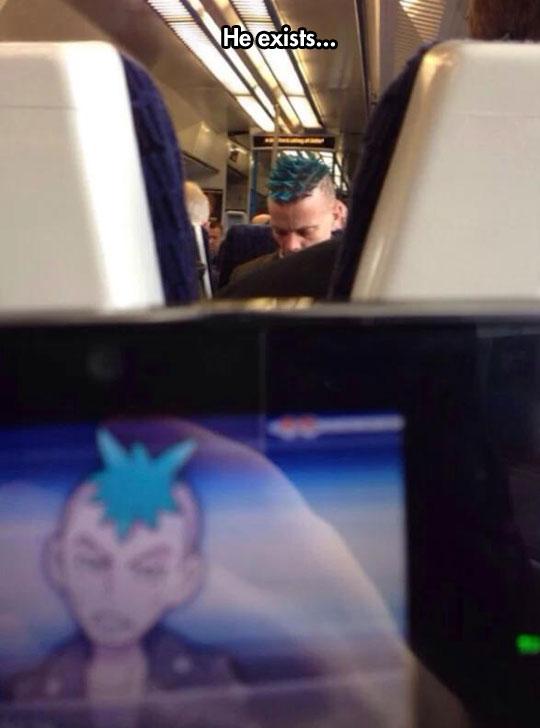funny-plane-punk-blue-hair-cartoon