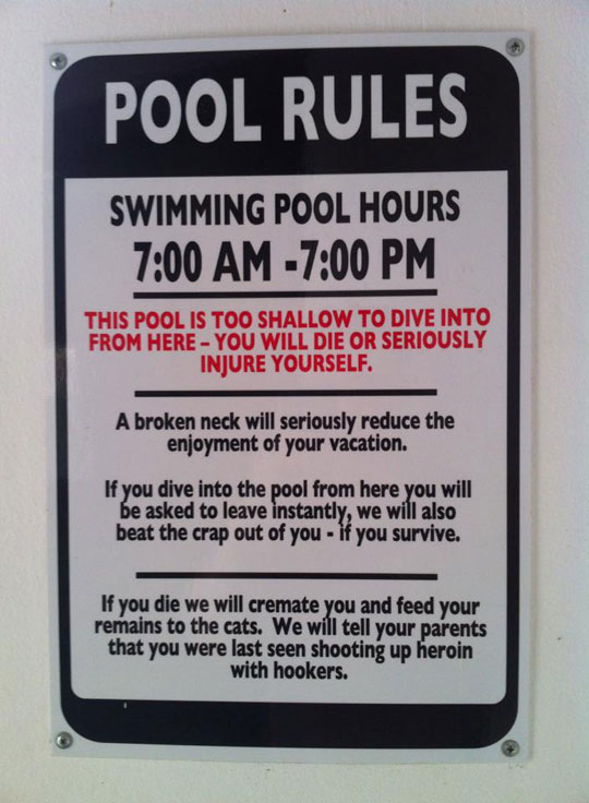 No Diving Or Else