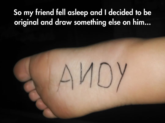 funny-prank-Andy-feet-drawing