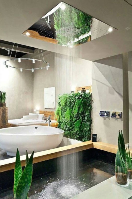 funny-shower-green-plants-house-architecture
