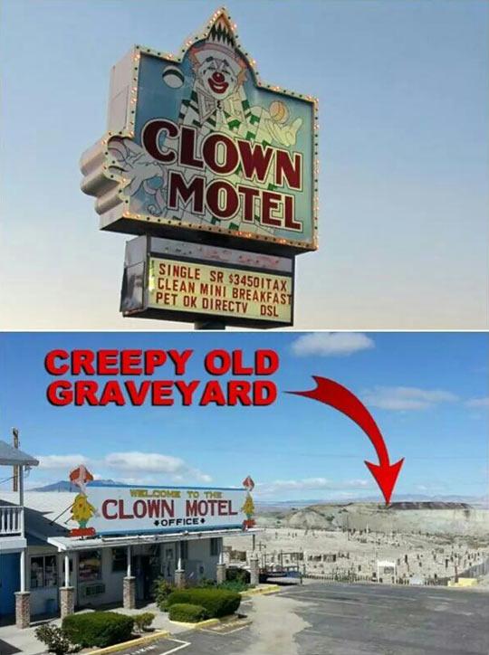 funny-sign-Clown-Motel-graveyard