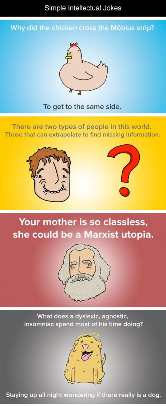 Simple Illustrated Intellectual Jokes
