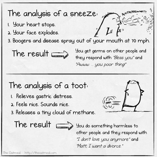 Sneeze Vs. Toot