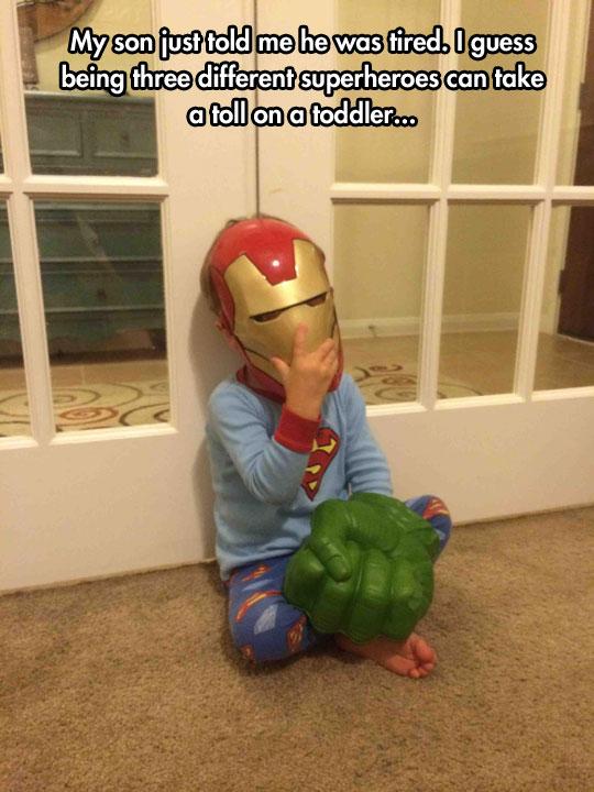 funny-toddler-IronMan-mask-Hulk