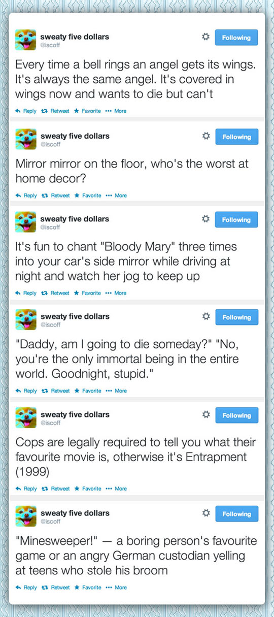 funny-tweets-angels-bell-mirror-puns