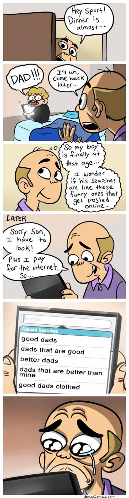 Stop Snooping Around Dad