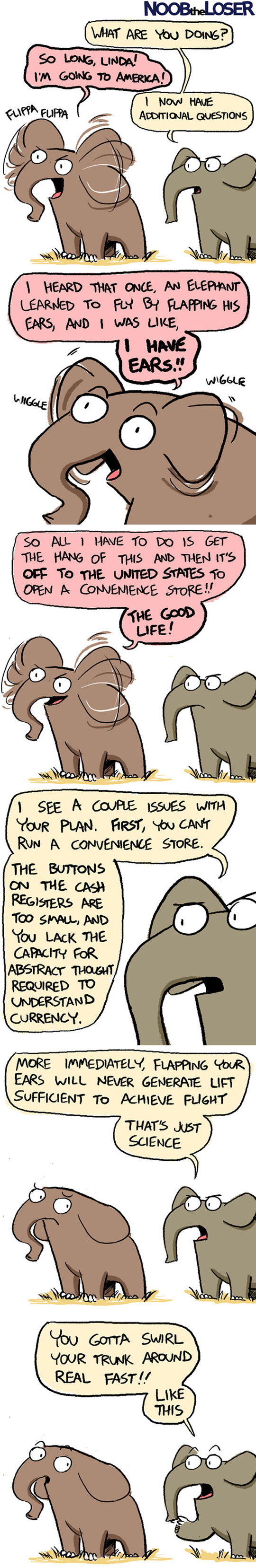 An Elephant With A Big Dream