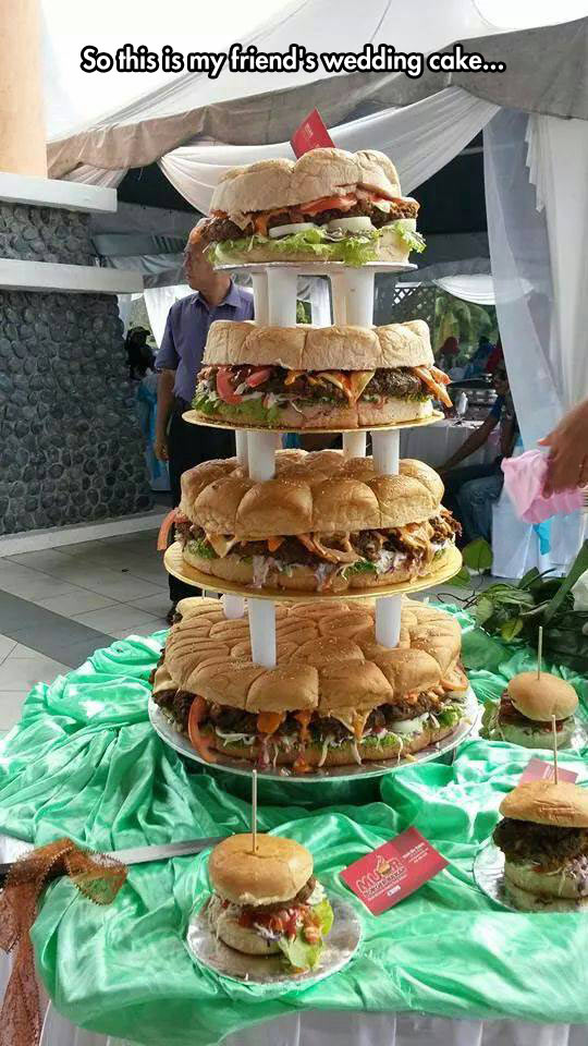 Burger Wedding Cake