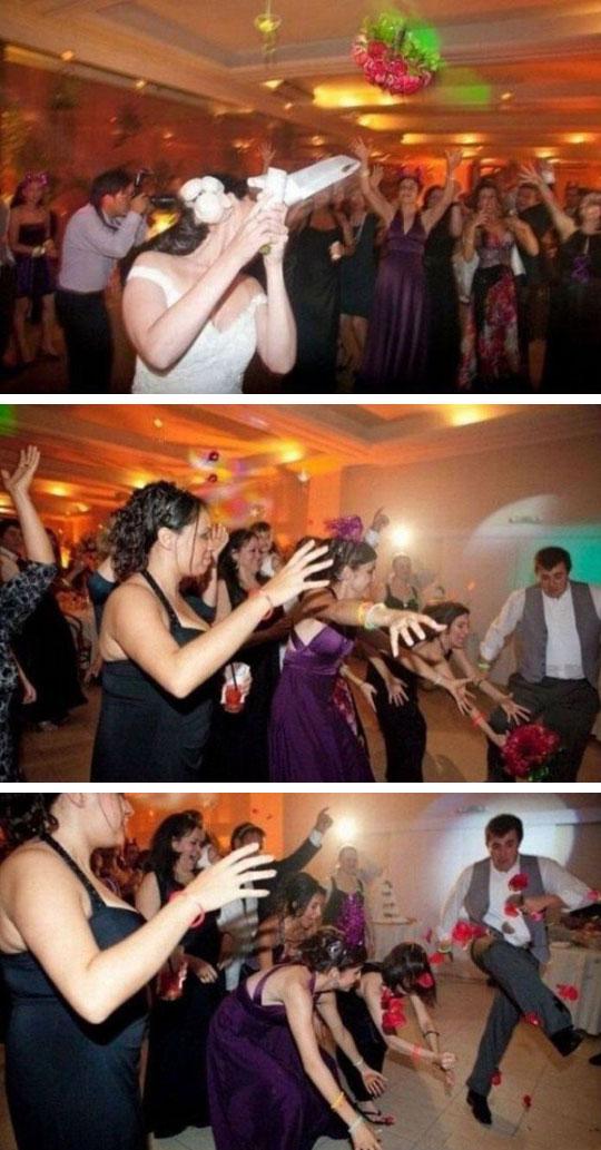 funny-wedding-girls-man-kicking-bouquet
