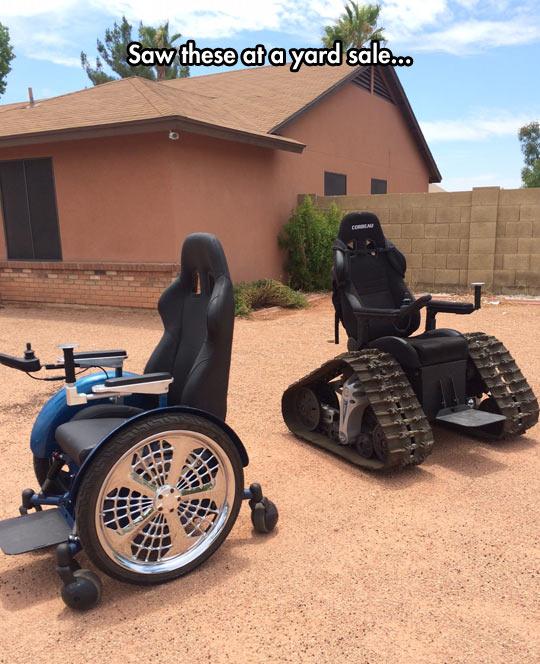 funny-wheelchair-yard-sale-Tankchair