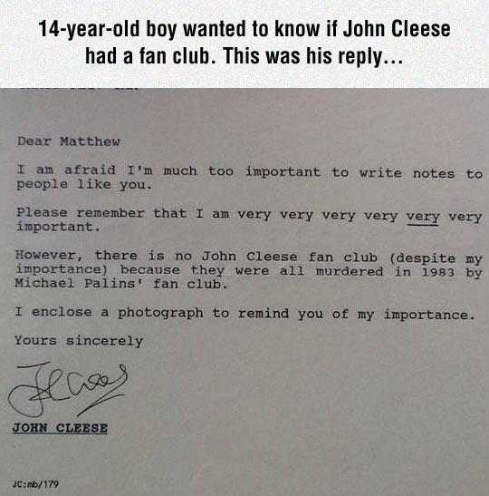 John Cleese Is Very Important
