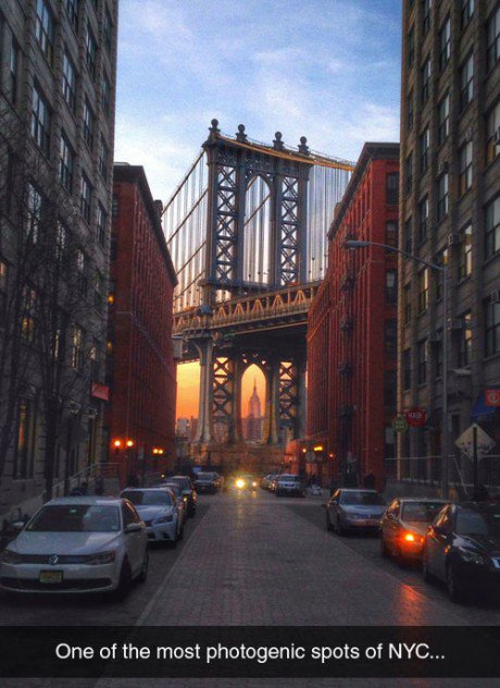 New York sunset.