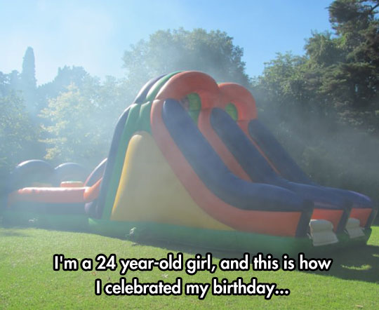 cool-birthday-girl-inflatable-castle