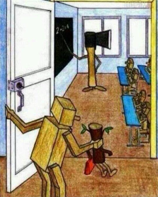 cool-cartoon-wood-kid-school