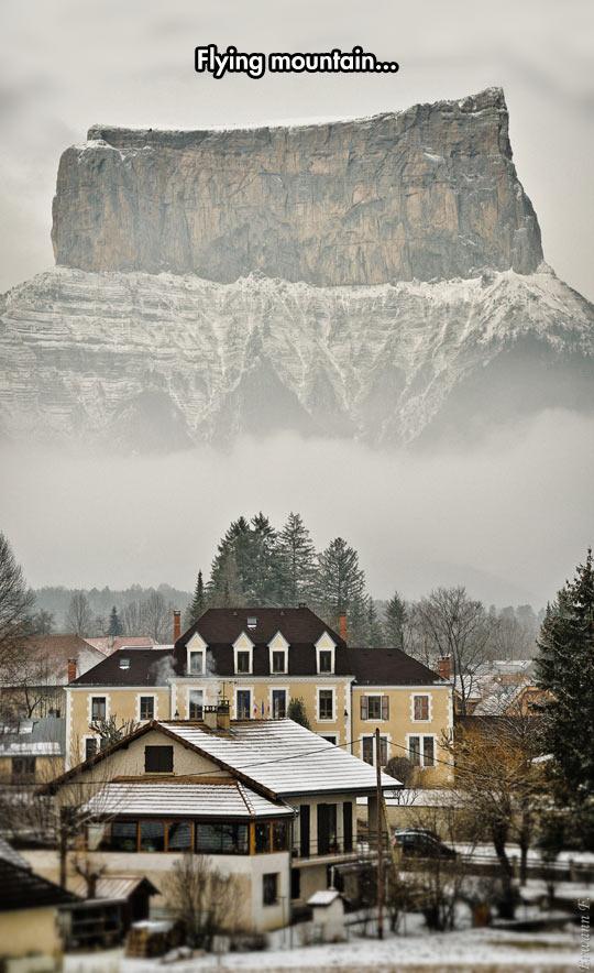 Levitating Mountain Illusion