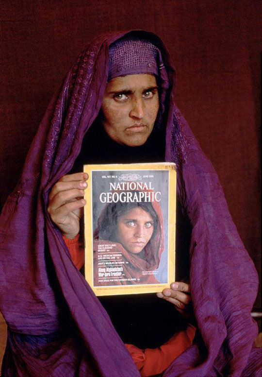 cool-now-then-National-Geographic-Afghan-girl
