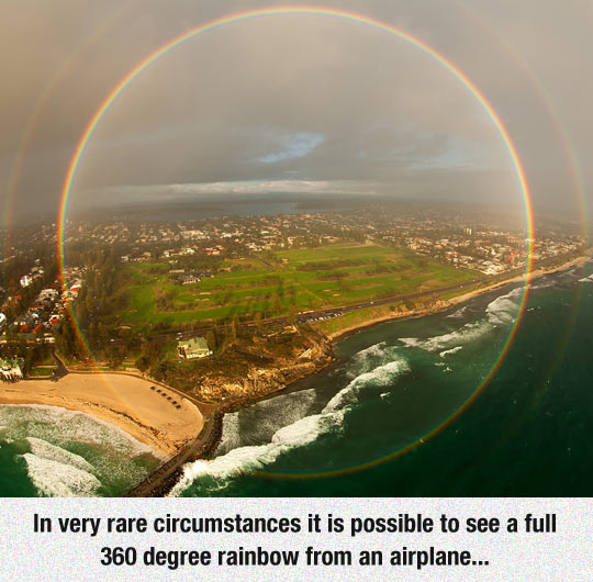 cool-plane-view-rainbow-circle