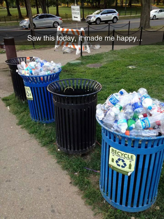 Happy For All Those People Recycling