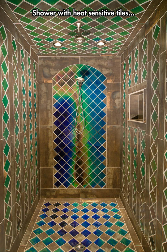 Colorful Heat Sensitive Shower