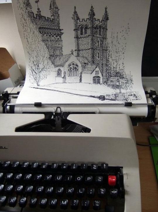 Amazing Typewriter Art