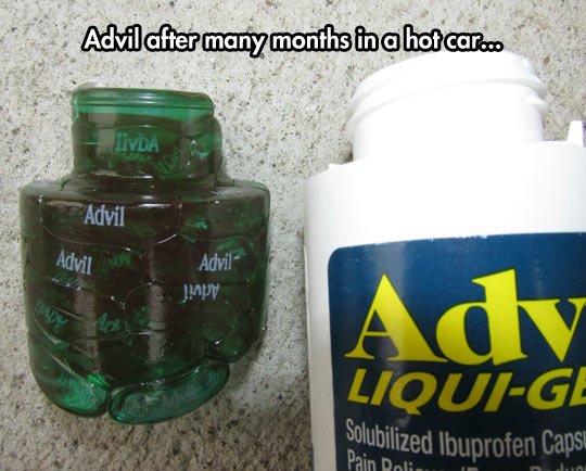 Melted Advil Pills