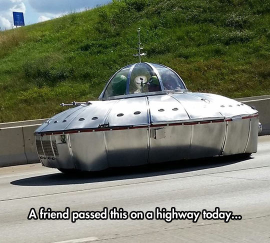 UFO On The Highway