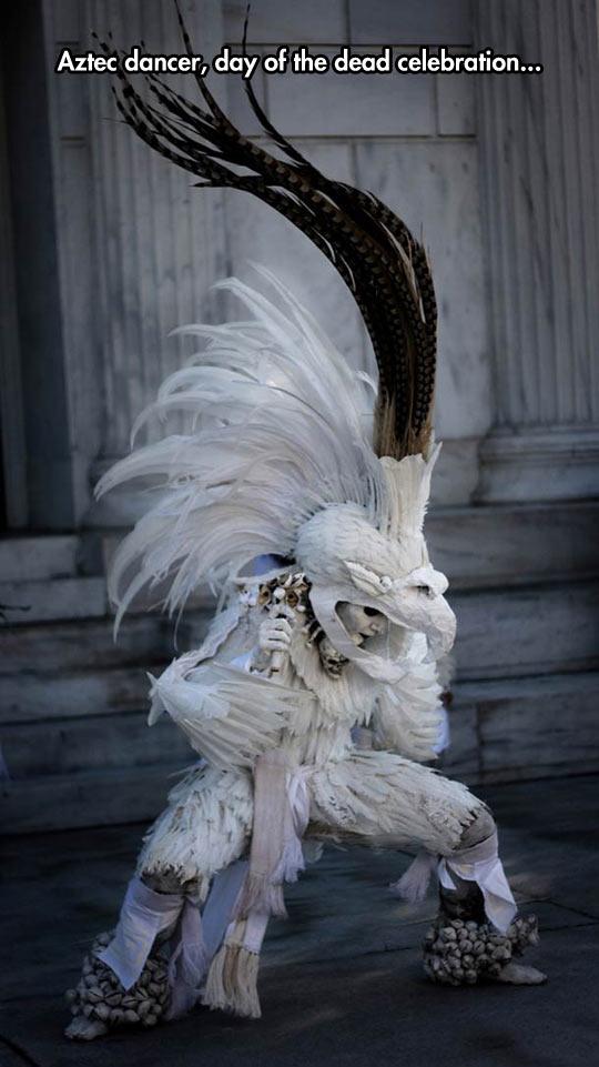 Aztec Dancer Has An Amazing Costume