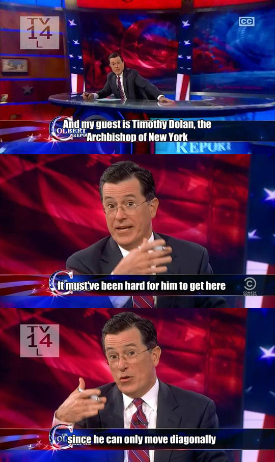 funny-Colbert-show-guest-Timothy-Dolan