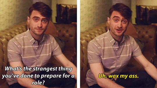 funny-Daniel-Radcliffe-strangest-thing-for-role