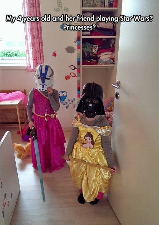 Little Girls Playing Disney