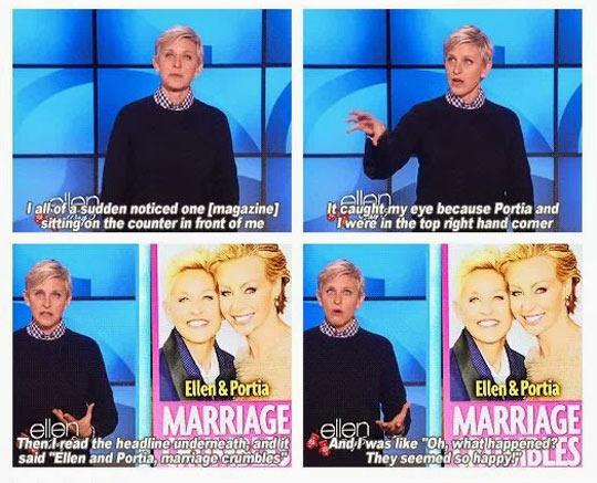 Ellen And Portia Marriage Crumbles