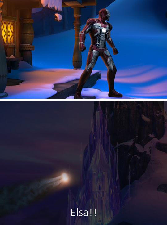 funny-Forzen-Iron-Man-Robert-Elsa