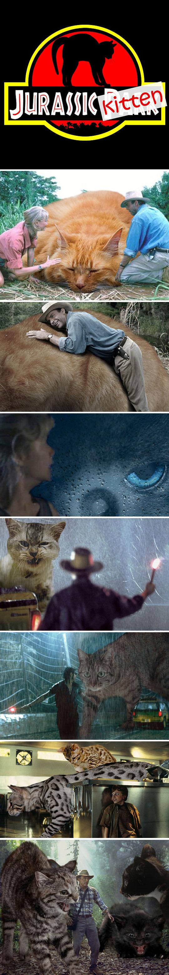 funny-Jurassic-Kitten-photoshopped-dinosaurs