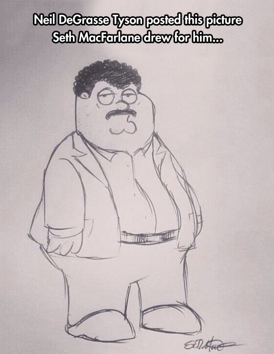 Peter Griffin With An Afro And A Mustache?