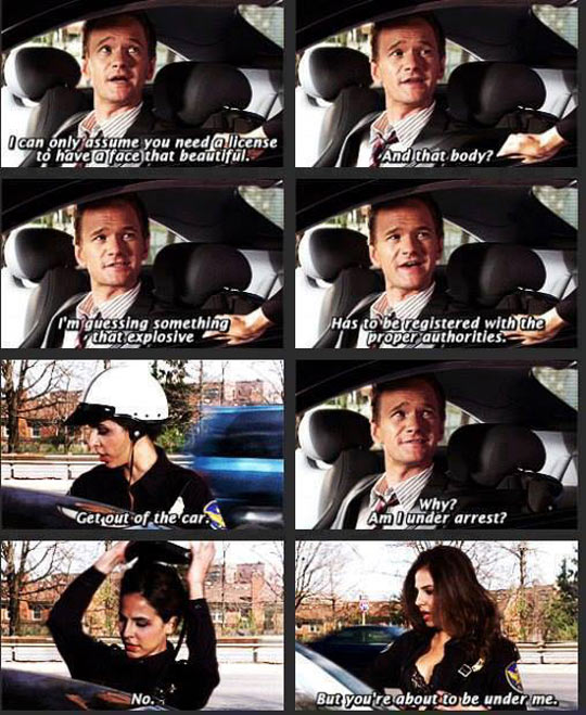 funny-Neil-Patrick-Harris-police-woman-car