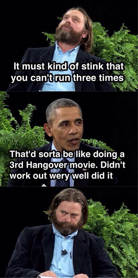 Obama Burned Galifianakis
