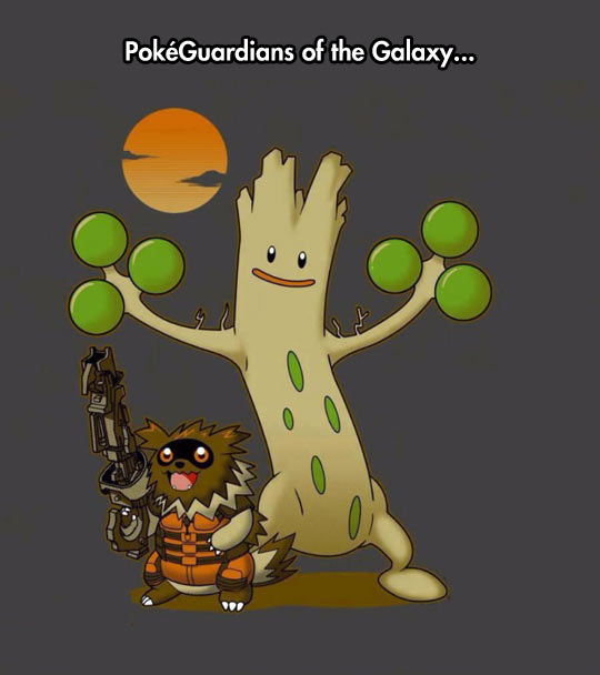 If Rocket And Groot Were Pokemons
