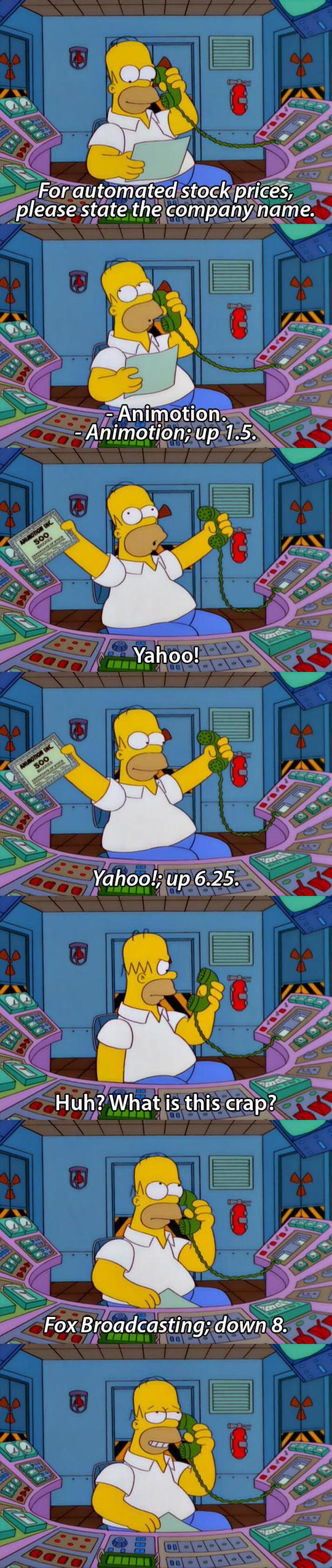 Homer Checks His Stocks