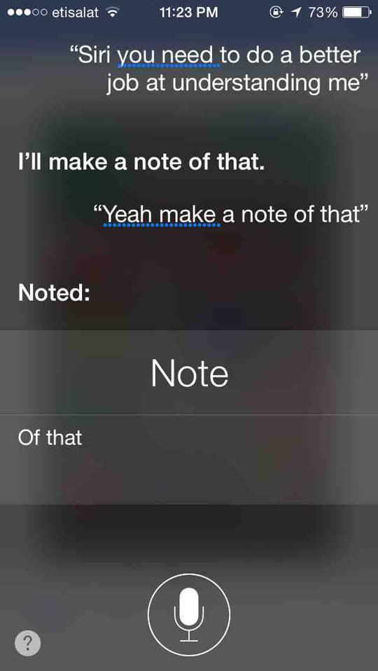 Siri Pushing My Buttons