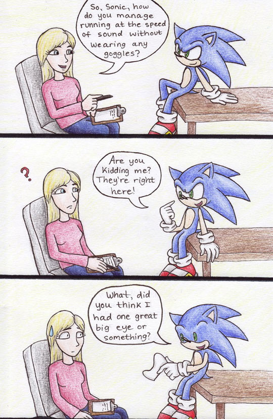 Ever Notice How Sonic Has Just One Big Eye?