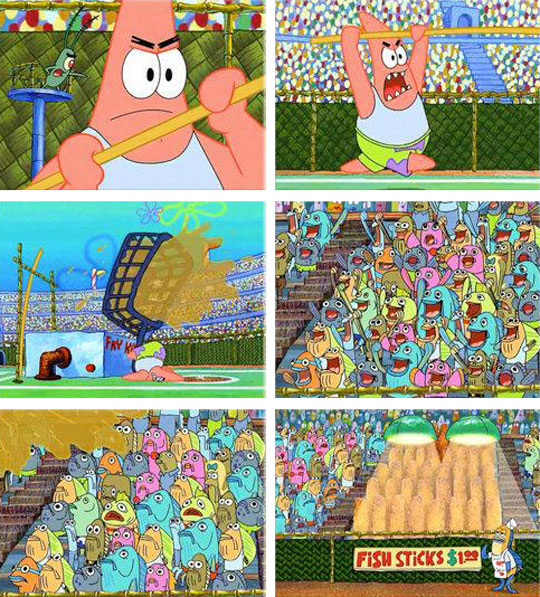 funny-SpongeBob-Patrick-Olympics-fried-fish