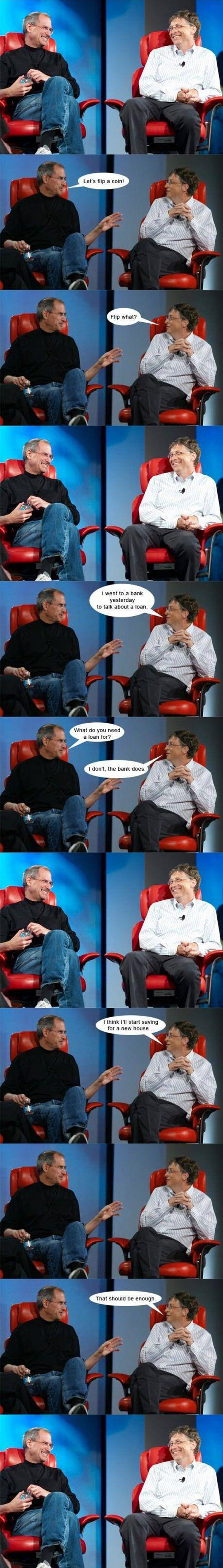 funny-Steve-Job-Bill-Gates-jokes-money
