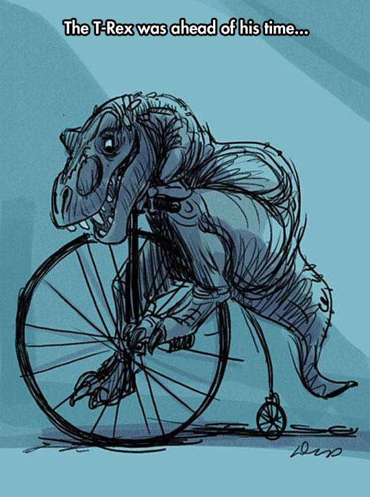 funny-T-Rex-riding-bike-cartoon