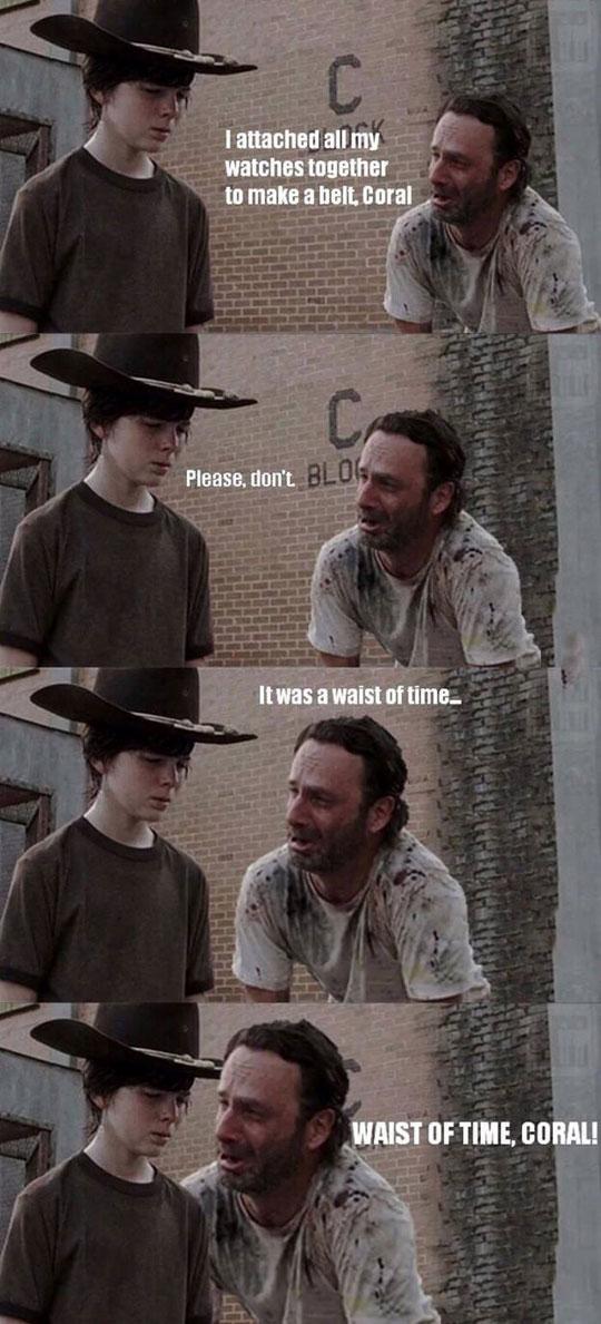 funny-Walking-Dead-watch-belt-Carl