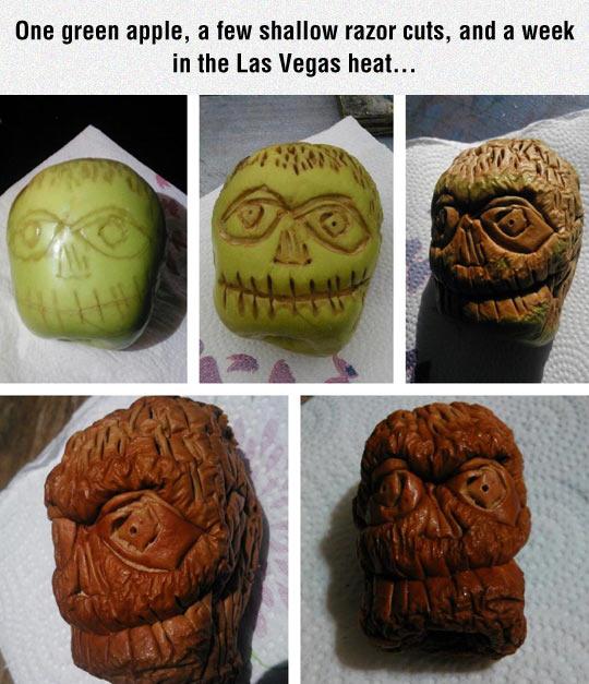 Carved Apple Skull