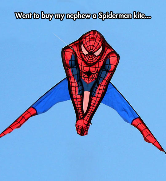 Awkward Spiderman Kite