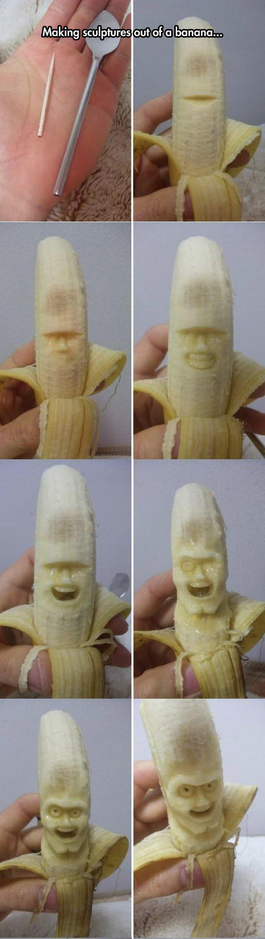 Making Banana Sculptures