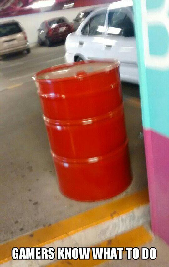 funny-barrel-parking-lot-gamers